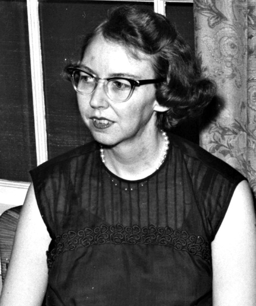 Flannery O'Connor is seen in an undated photo.