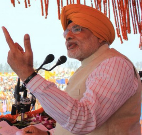 Narendra Modi, chief minister of India's Gujarat state and one of the leaders of the Hindu nationalist Bharatiya Janata Party in the current national election campaign.