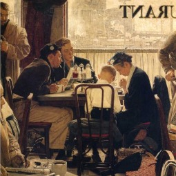 Norman Rockwell's Saying Grace, 1951