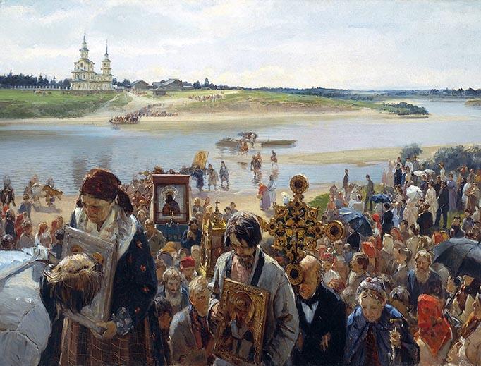 "Illarion Pryanishnikov, ""Easter Procession"", 1893"