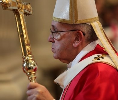 Pope Francis celebrates Mass for deceased cardinals and bishops in St. Peter's Basilica on Nov. 3.