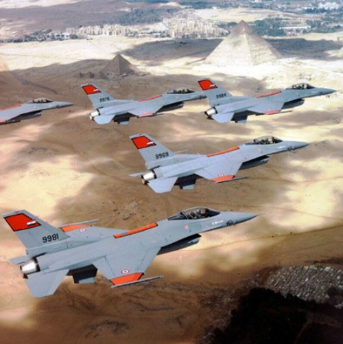 Egyptian F-16 fighter planes