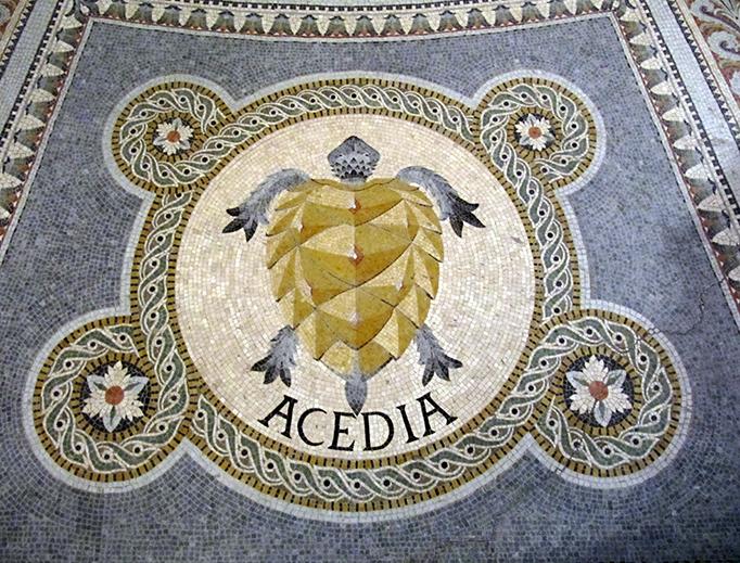 """Acedia"" mosaic at the Basilica of Notre-Dame de Fourvière in Lyon, France"