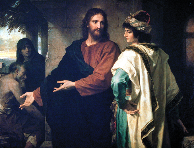 """Heinrich Hofmann (1824–1911), """"Christ and the Rich Young Man"""""""