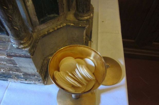 The recovered consecrated hosts.