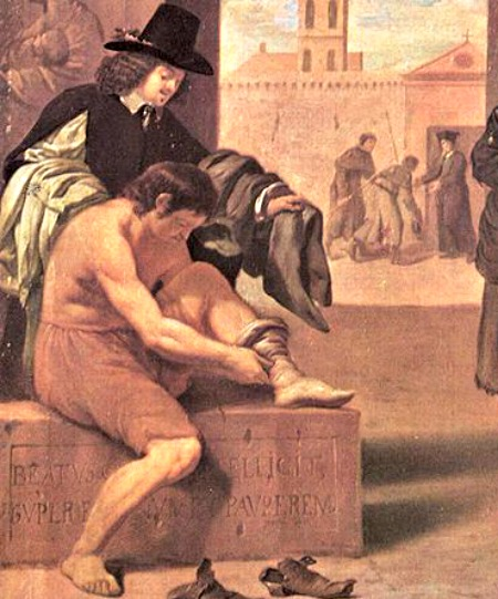 Detail of Works of Mercy by Pierre Montallier (1680)
