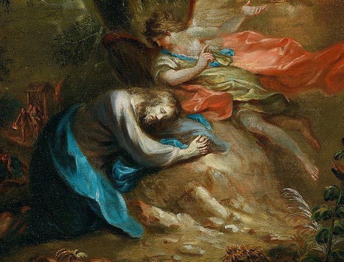 """Martin Johann Schmidt (1718-1801), """"Christ on the Mount of Olives"""""""