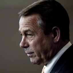 House Speaker John Boehner (R-OH) speaks during his weekly on-camera news conference on Capitol Hill Feb. 2 in Washington. Boehner said President Obama should reconsider a decision to compel church-affiliated employers to cover birth control in their health care plans.