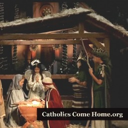 A screen shot from Catholics Come Home's national television commercial 'Epic.'
