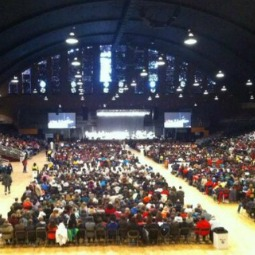 Pilgrims attend the Mass for Life at the D.C. Armory before the March for Life in Washington on Jan. 22, 2014.