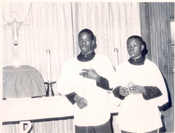 The young Clarence Thomas during his time in the seminary.