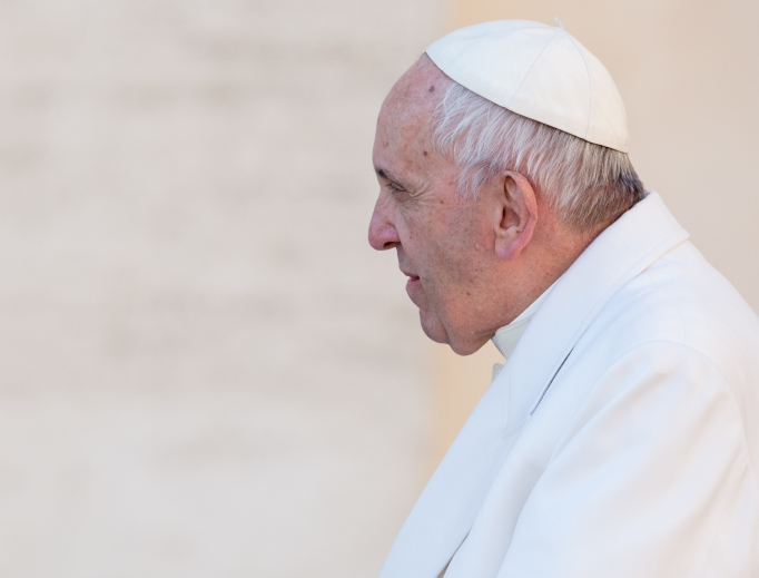 Pope Francis at the general audience in St. Peter's Square on Jan. 24.