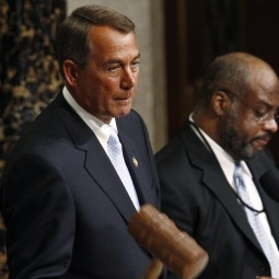 Incoming U.S. House Speaker John Boehner uses the gavel during the first votes of the 112th U.S Congress on Capitol Hill in Washington Jan. 5. The Catholic Republican representative from Ohio took the helm from California Democrat Nancy Pelosi, also a Catholic.