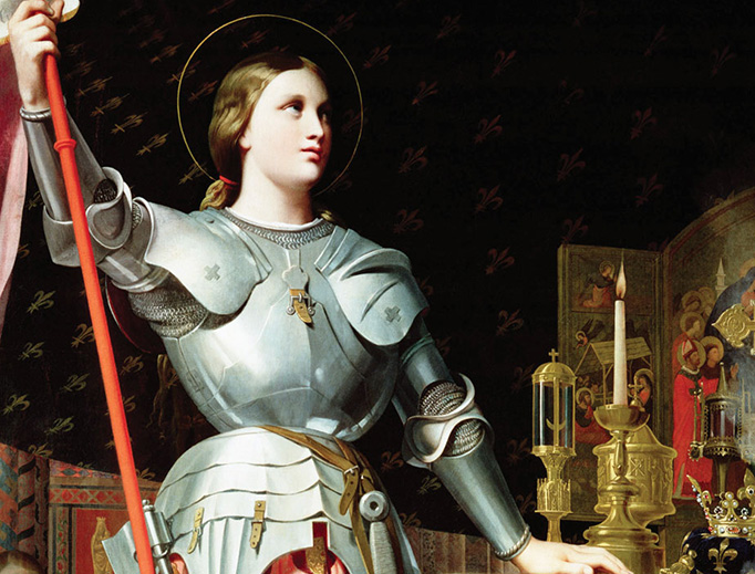 """Jean Auguste Dominique Ingres, """"Joan of Arc at the Coronation of Charles VII"""", 1854"""