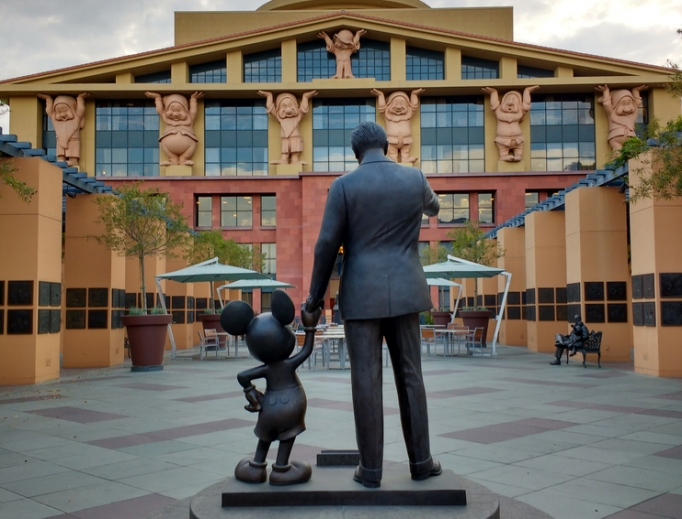 CEO Bob Iger, of Disney, whose The Partners Statue, depicting Walt Disney and Mickey Mouse, is seen in front of the Seven Dwarfs Building (aka 'Team Disney Building') on the Walt Disney Studios lot in Burbank, California, told Reuters: 'Many people who work for us will not want to work there. We will have to heed their wishes.'