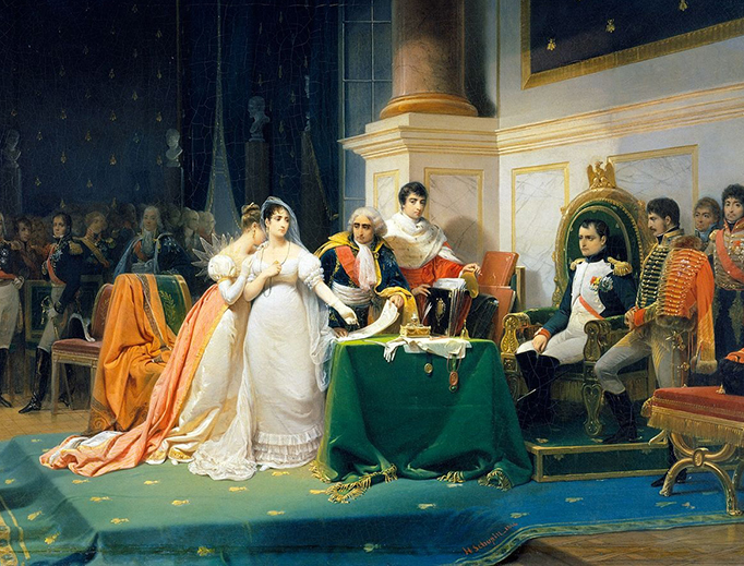 "Henri-Frédéric Schopin, ""The Divorce of the Empress Josephine"", 1843"