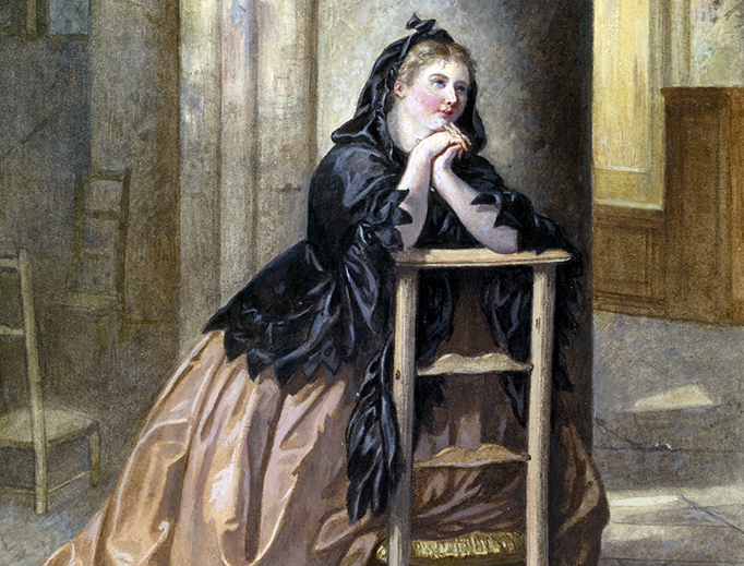 "Alexandre Couder (1808–1879), ""Woman Kneeling in Prayer"""