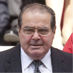 Supreme Court Justice Antonin Scalia leaves the Cathedral of St. Matthew the Apostle in Washington following the Red Mass Oct. 3. The service is held each year before the start of the Supreme Court term.