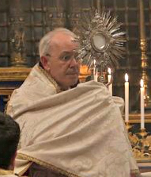 Cardinal Walter Brandmüller leads Benediction during the Summorum Pontificum Conference, at the Church of Sts. Dominic and Sixtus in Rome, on June 13.