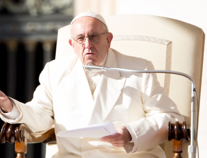 Pope Francis at the general audience in St. Peter's Square Nov. 8.