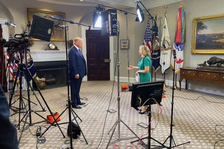 EWTN News Nightly's Tracy Sabol conducts a White House interview with President Donald Trump Aug. 4.