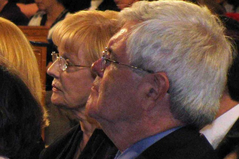 Newt Gingrich listens to the Pope last April in Washington.