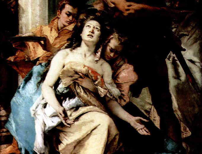 "Giovanni Battista Tiepolo, ""The Martyrdom of St. Agatha"" (1750)"