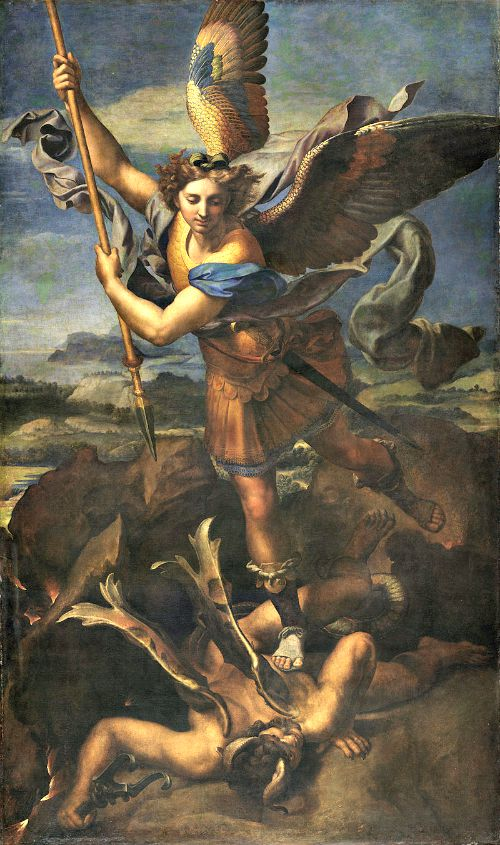 Archangel Michael Defeating Evil by Raphael
