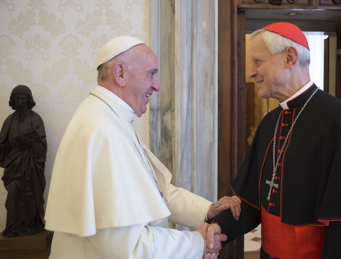 Cardinal Wuerl meets with Pope Francis in October 2017.