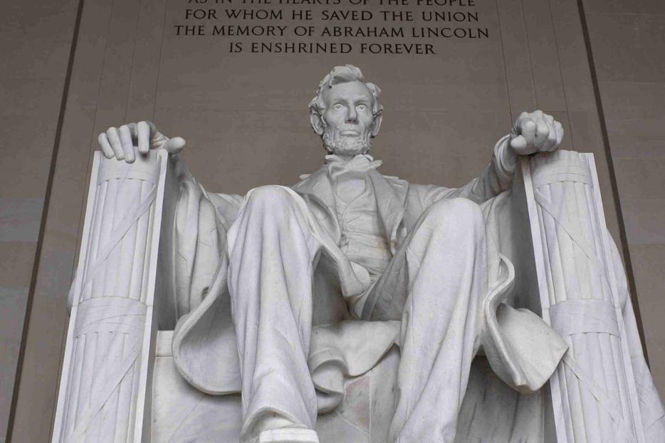 Lincoln Memorial statue.