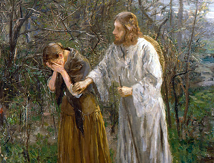 """Fritz von Uhde, """"Woman, Why Weepest Thou?"""" (c. 1893)"""