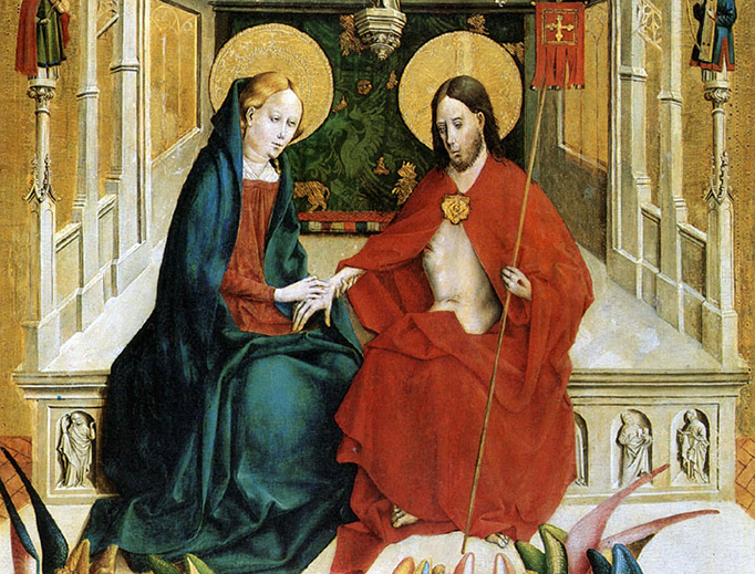 """Johann Koerbecke, """"The Risen Lord Appears to His Mother,"""" 1457"""
