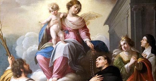 """Guillaume Perrier (1600-1656), """"La Remise du Rosaire"""""""