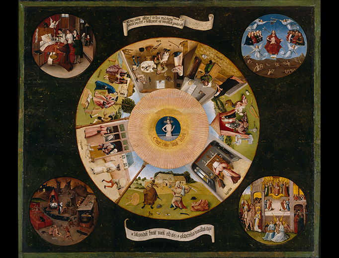 "Hieronymus Bosch or follower, ""The Seven Deadly Sins and the Four Last Things,"" c. 1505"