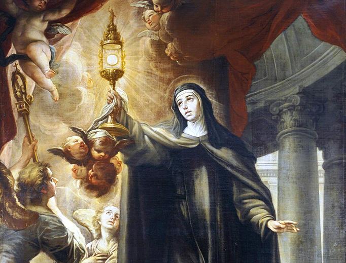 "Isidoro Arredondo, ""St. Clare and the Holy Eucharist"", 1693"