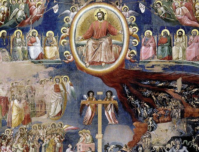 """Giotto, """"The Last Judgment"""", Cappella Scrovegni in Padua (1306)"""