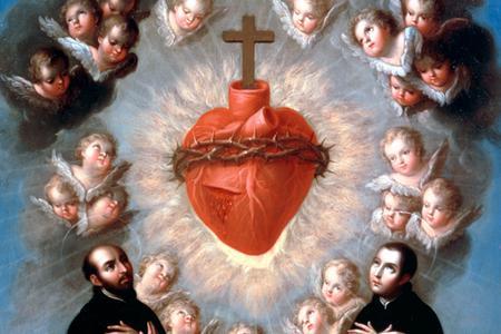 "José de Páez, ""Sacred Heart of Jesus with Saint Ignatius of Loyola and Saint Louis Gonzaga"", ca. 1770"