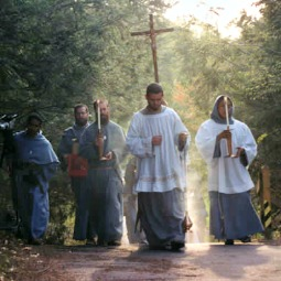 Franciscan Friars of the Immaculate in a liturgical procession.