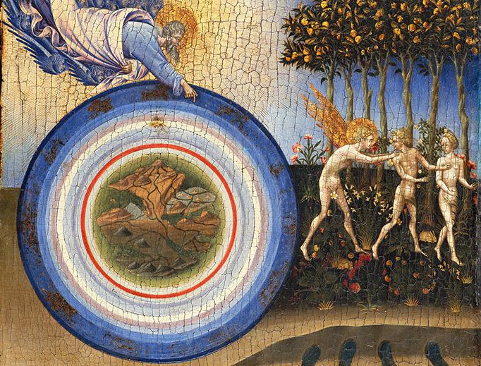 "Giovanni di Paolo di Grazia, ""The Creation of the World and the Expulsion from Paradise,"" 1445"