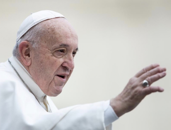 Pope Francis during his weekly General Audience.