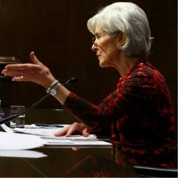 Health and Human Services Secretary Kathleen Sebelius testifies during a Senate Appropriations Committee hearing on Capitol Hill March 6.