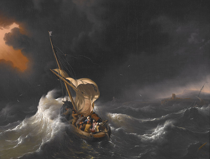 "Ludolf Bakhuizen, ""Christ in the Storm on the Sea of Galilee,"" 1695"