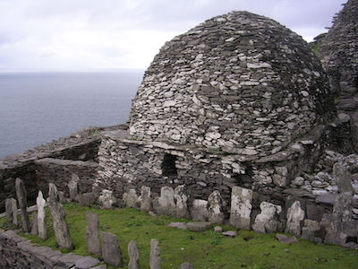 Skellig oratory and cemetery.