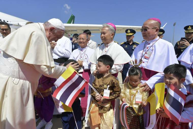 Pope Francis arrives in Thailand Nov. 20.