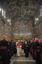 Benedict and Bartholomew at the Sistine Chapel.
