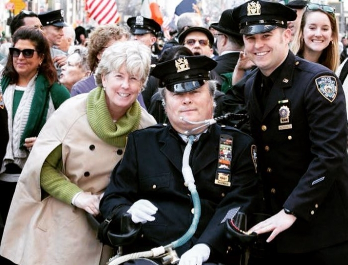 NYPD Officer Steven McDonald and his family.