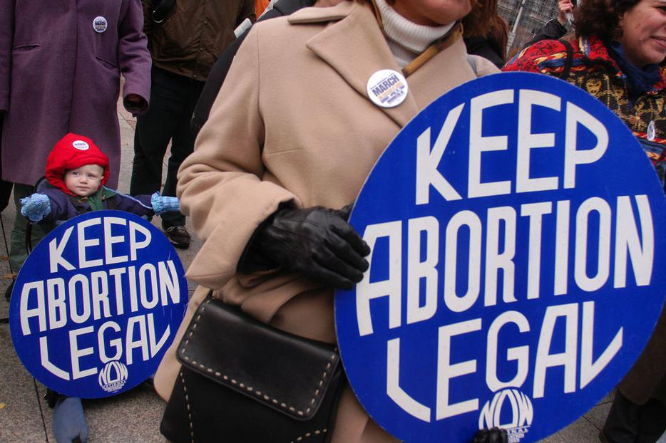 """""""Keep Abortion Legal"""" signs are displayed during a pro-abortion rally Nov. 13, 2003, in Philadelphia, Pennsylvania."""