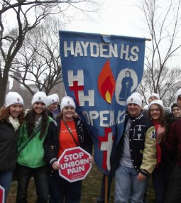 Student participants at the March for Life 2012.