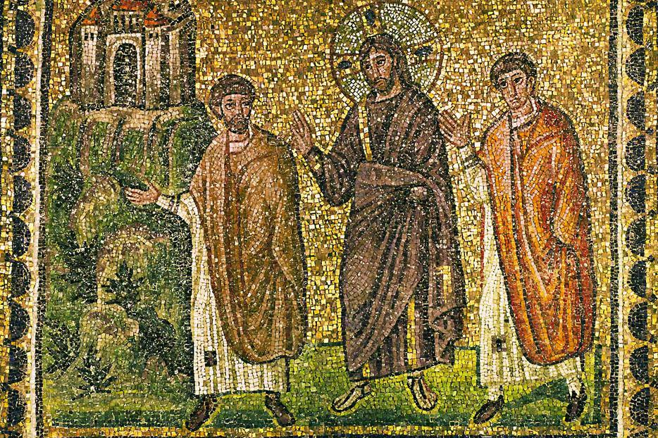 Mosaic (6th century), Church of Sant'Apollinare Nuovo, Ravenna, Italy