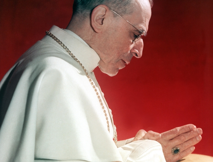 Venerable Pius XII, shown at prayer in an undated photo.